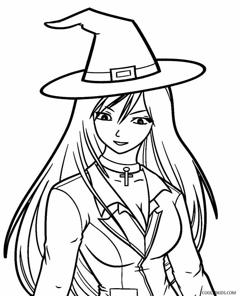 800x987 Unique Witch Coloring Pages Design Free Prepossessing Sheets Acpra