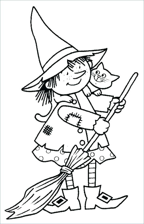 590x913 Witch Coloring Pages Coloring Pages Free Coloring Pages Witch