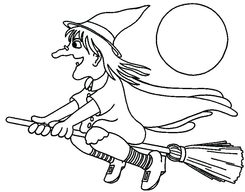 800x627 Witch Coloring Pages Flying Witches Coloring Pages Printable Free