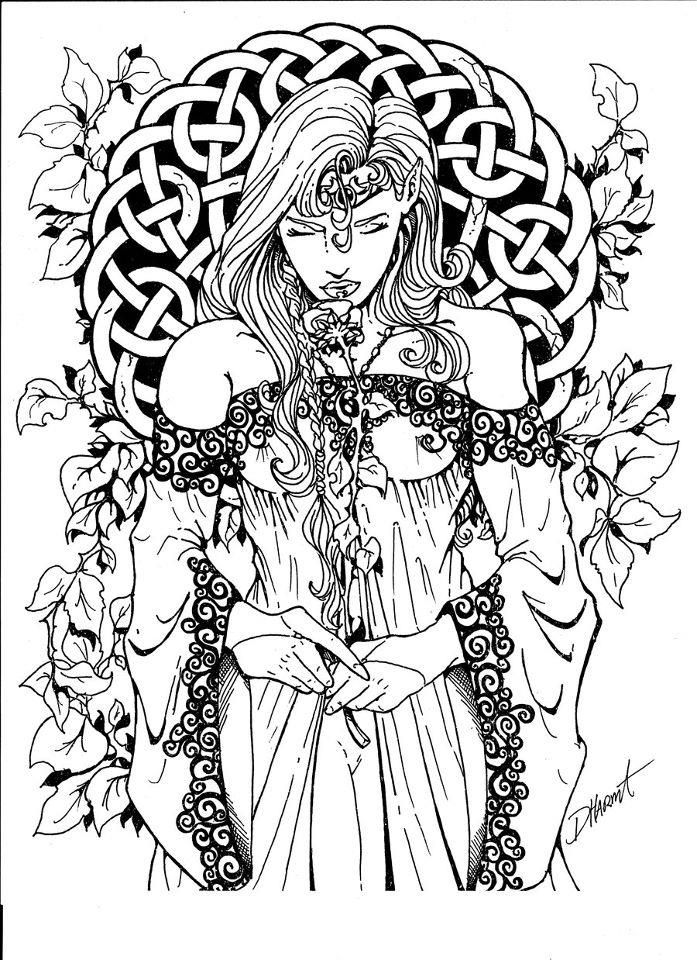 697x960 Witch Coloring Pages For Adults