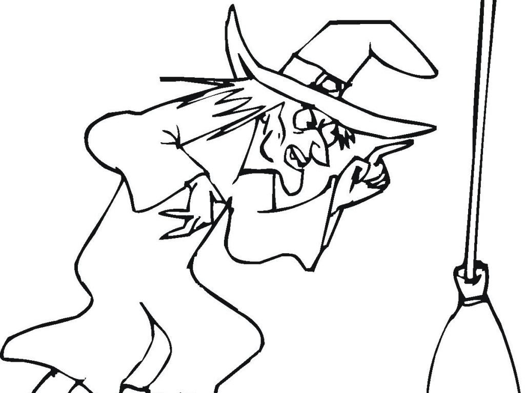 1024x768 Witch Coloring Pages Nice Decoration With Wallpapers