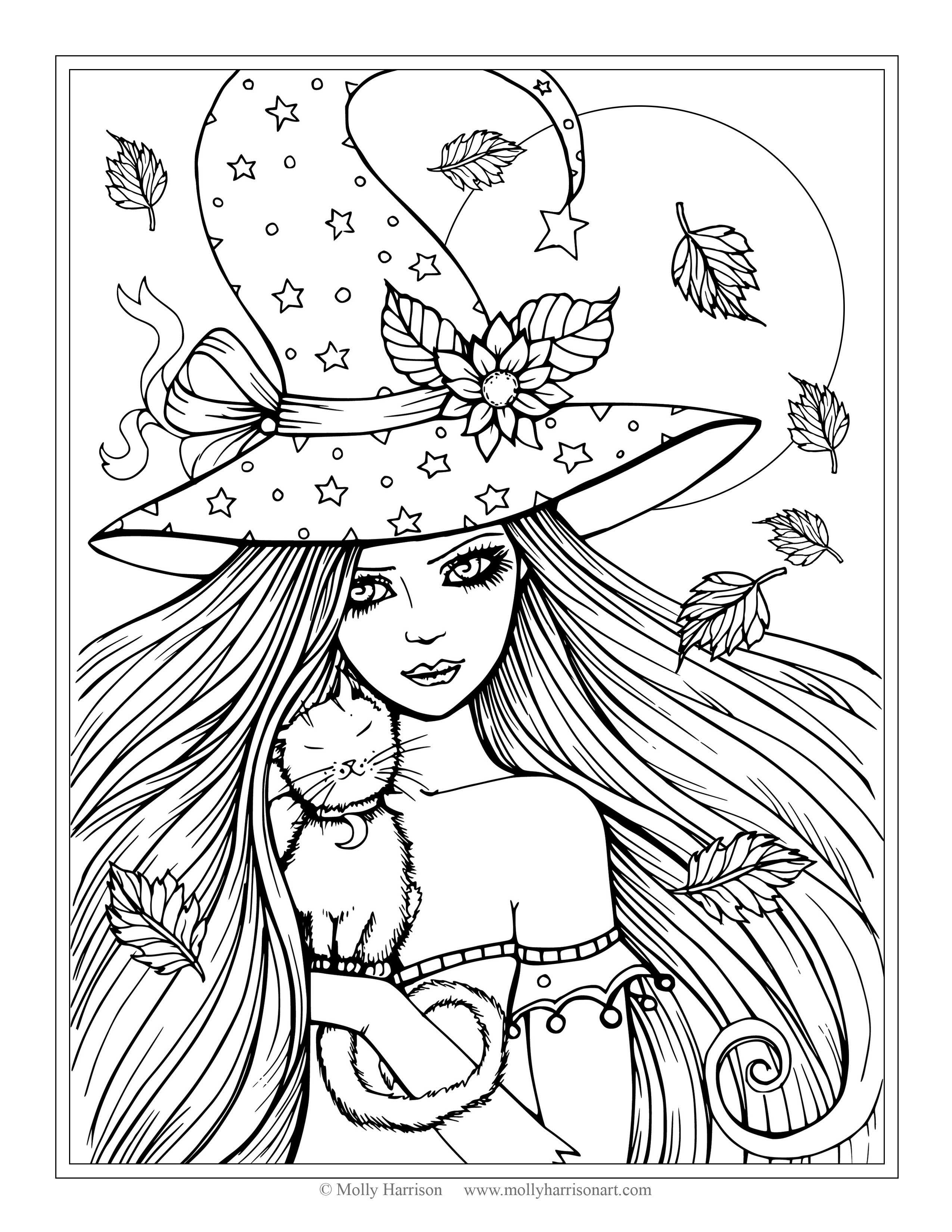 2550x3300 Halloween Witch Coloring Pages Inside Tgm Sports Witch Coloring