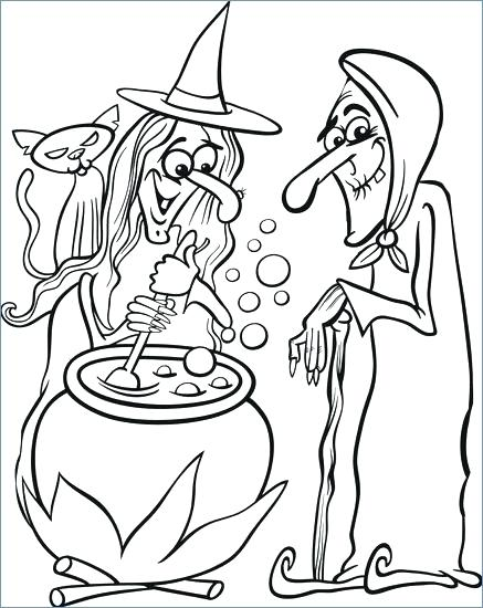 437x550 Halloween Witch Coloring Page Flying Witches Coloring Pages