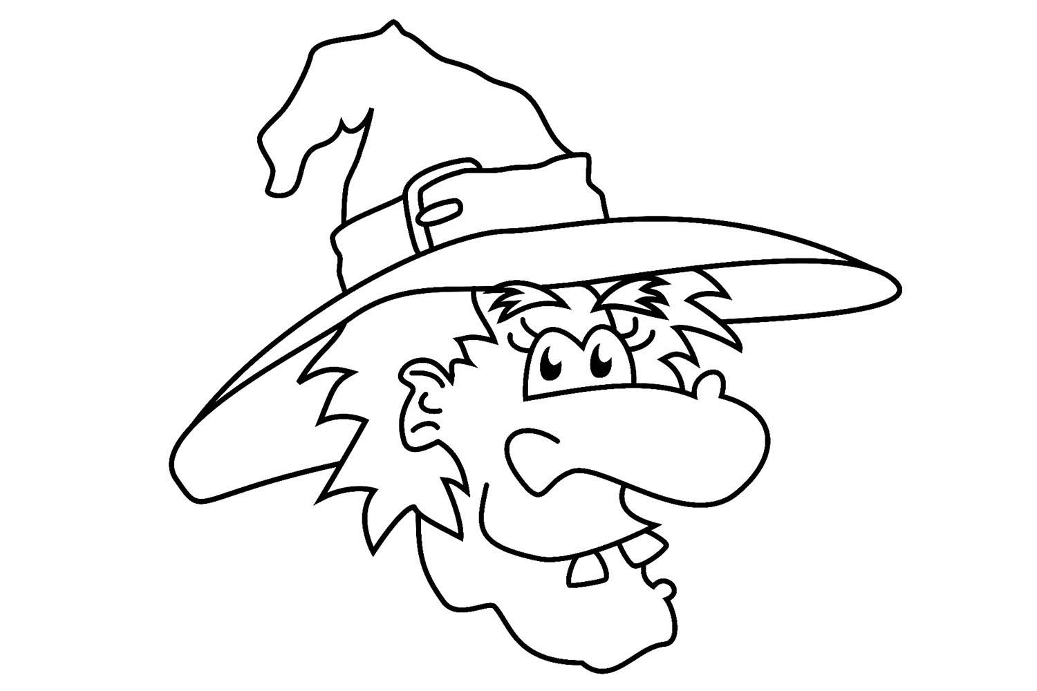 1500x1000 Halloween Witch Coloring Pages