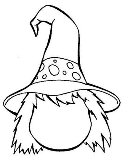 412x534 Best Halloween Coloring Pages Images On Male Witch