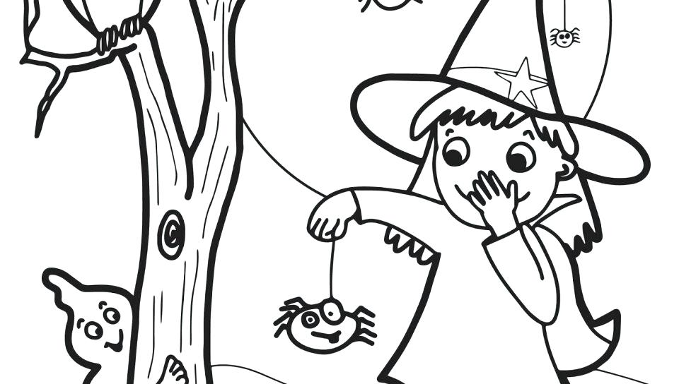 960x544 Witch Coloring Sheets Witch Coloring Page Free Printable Pages