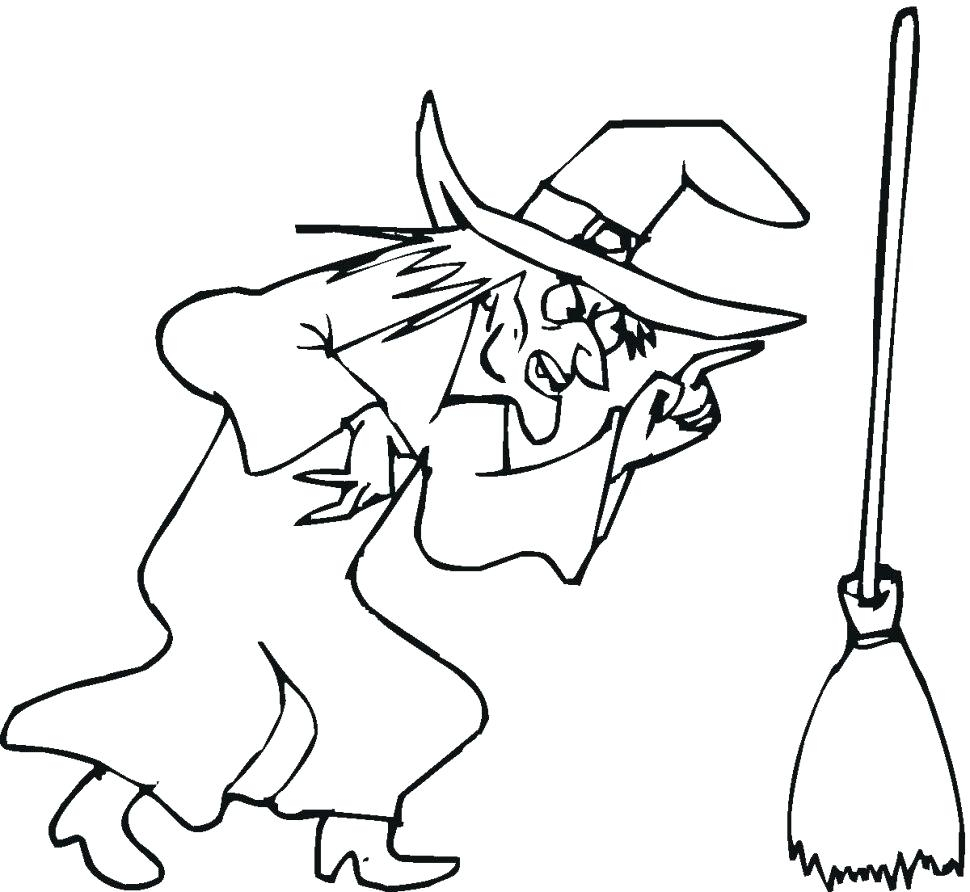 970x892 Awesome Coloring Halloween Witch Coloring Page Free Printable