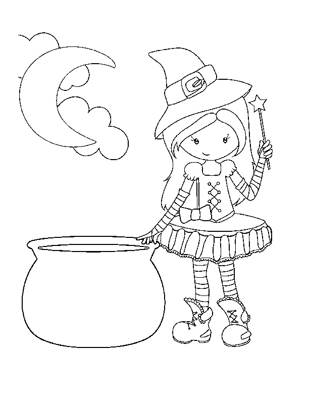 612x792 Cute Witch Coloring Pages Free Witch Coloring Pages Free