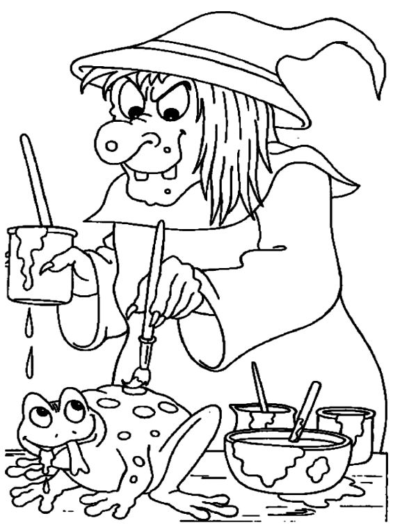 588x754 Best Witch Color Page Funny Witch Coloring Page Wicked Witch Touch