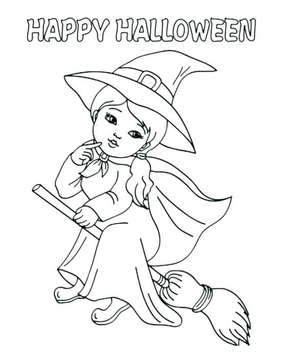 550x712 Coloring Pages Of Witches Large Size Of Coloring Pages Witches Hat