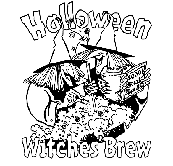 585x560 Halloween Coloring Pages
