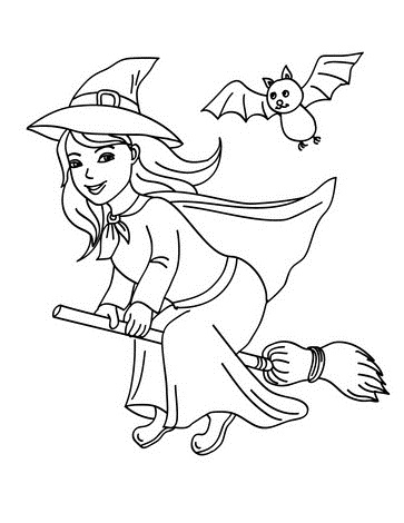 363x470 Halloween Coloring Page Crafts And Worksheets For Preschool