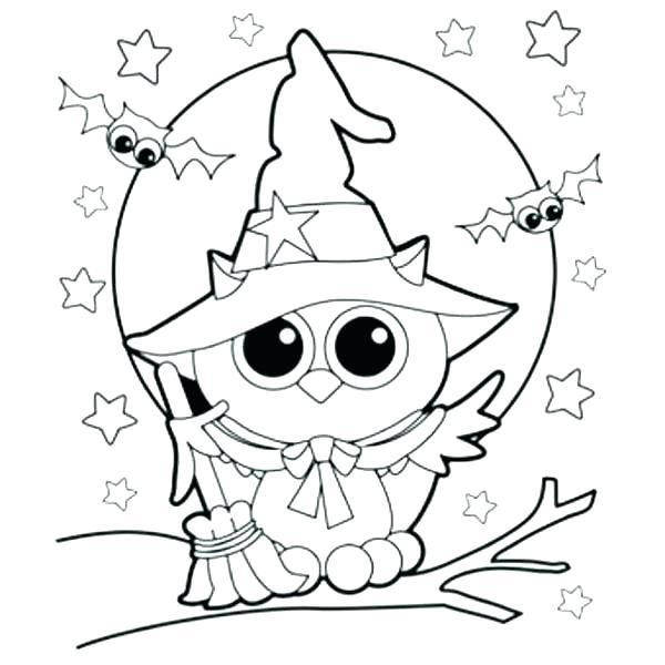 600x600 Halloween Coloring Pages To Print Free Printable Witch Coloring