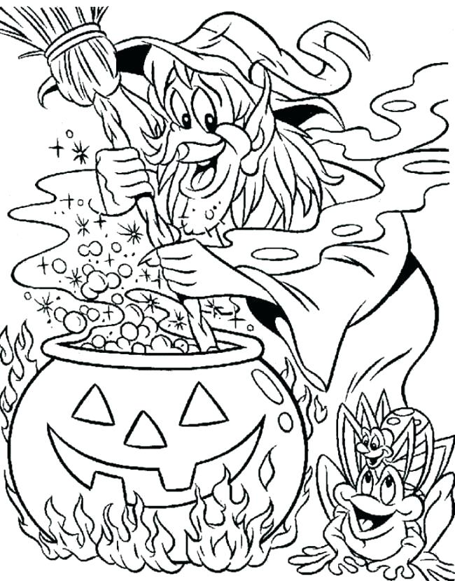 650x830 Halloween Witch Coloring Pages Together With Witch Cute Halloween