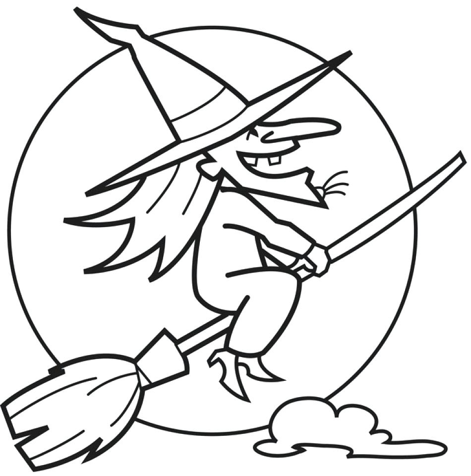 950x960 New Coloring Halloween Witch Coloring Page Free Coloring Pages