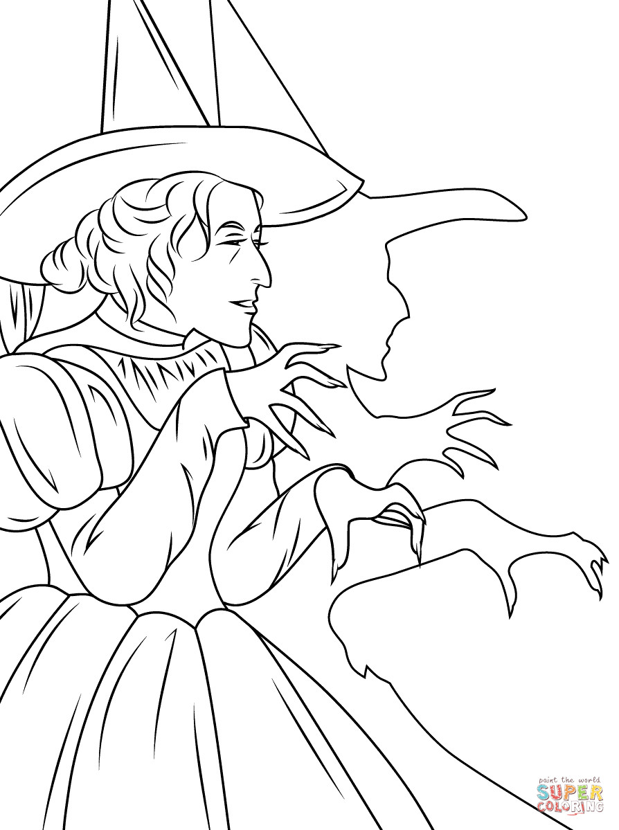 894x1199 Witch Coloring Page Wagashiya