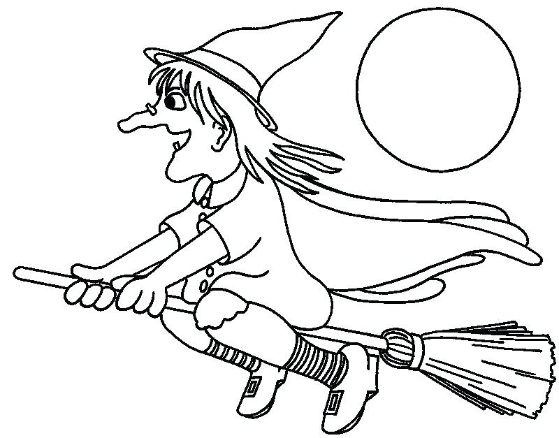 800x627 Witch Coloring Pages Cute Witch Coloring Pages Witch Flying