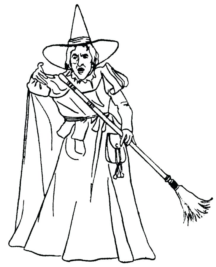 728x898 Witch Coloring Pages Witch Hat Coloring Pages Wicked Witch