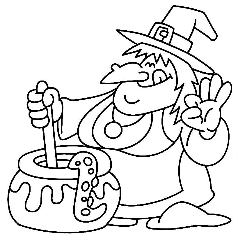 818x833 Halloween Witch Coloring Pages Halloween Witch Coloring Pages
