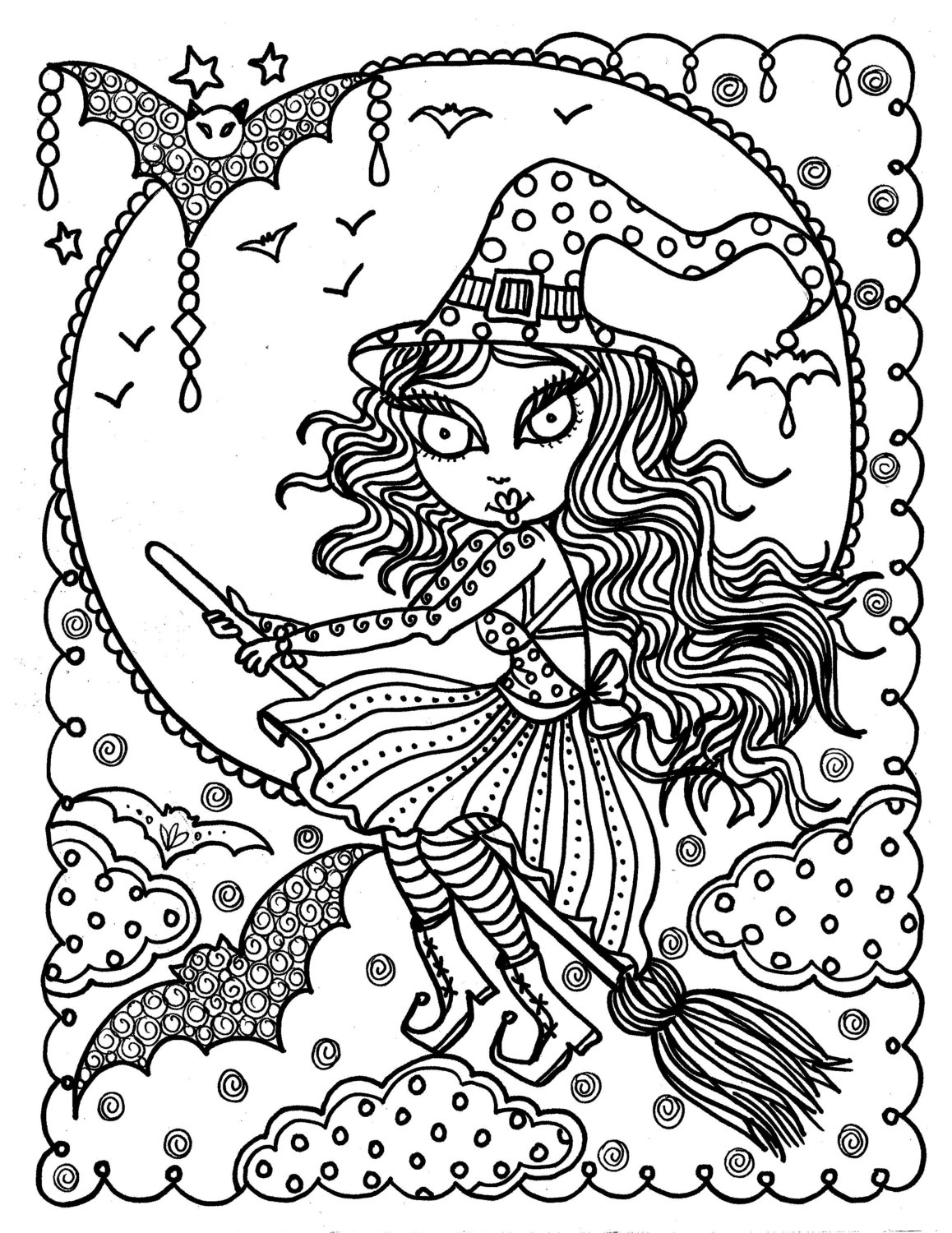 1158x1500 Cute Halloween Witch Coloring Pages Free Coloring For Kids