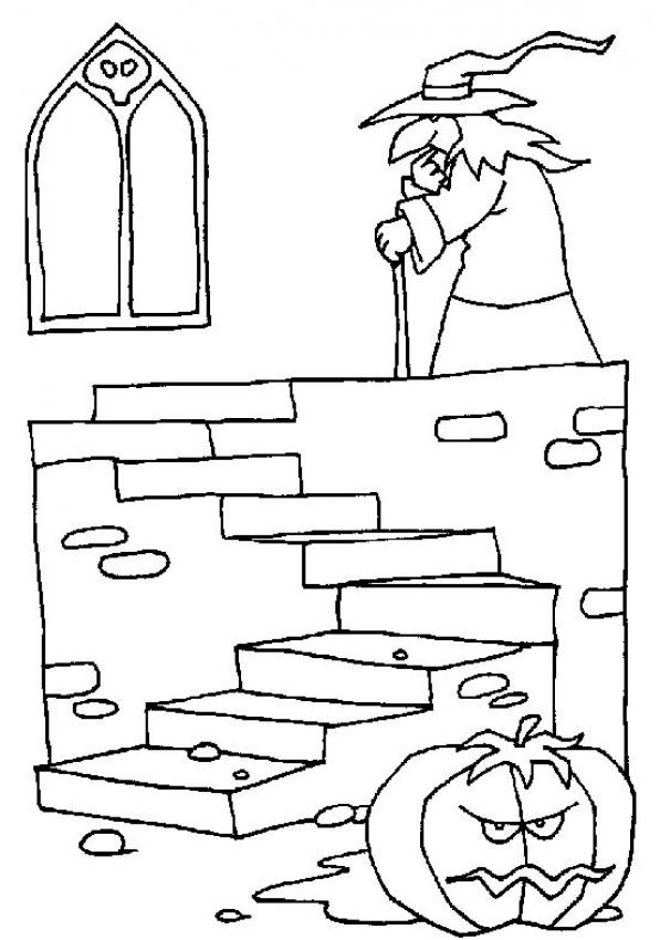 597x850 Witch Coloring Pages