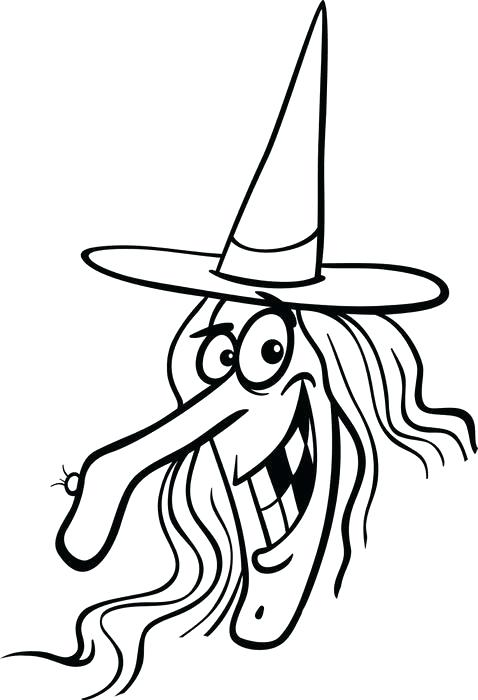 478x700 Witch Coloring Pages Free Printable Witch Coloring Page For Kids