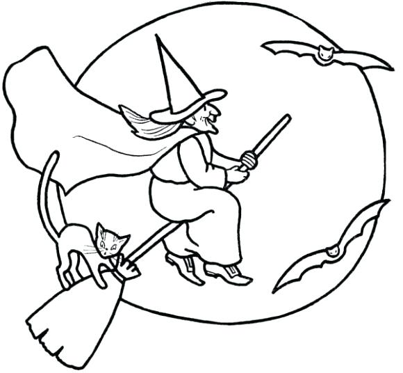 580x536 Witch Pictures To Color Coloring Pages Mermaid Picture To Color