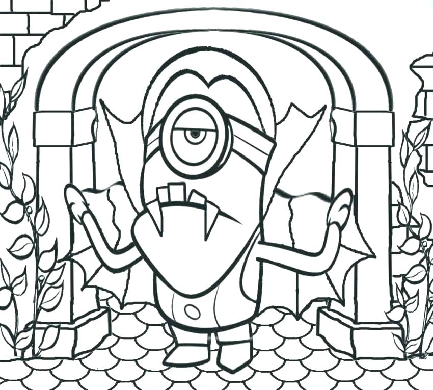850x765 Halloween Coloring Page For Preschool