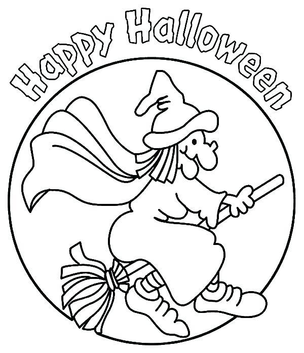 600x696 Happy Halloween Sign Coloring Pages Vanda