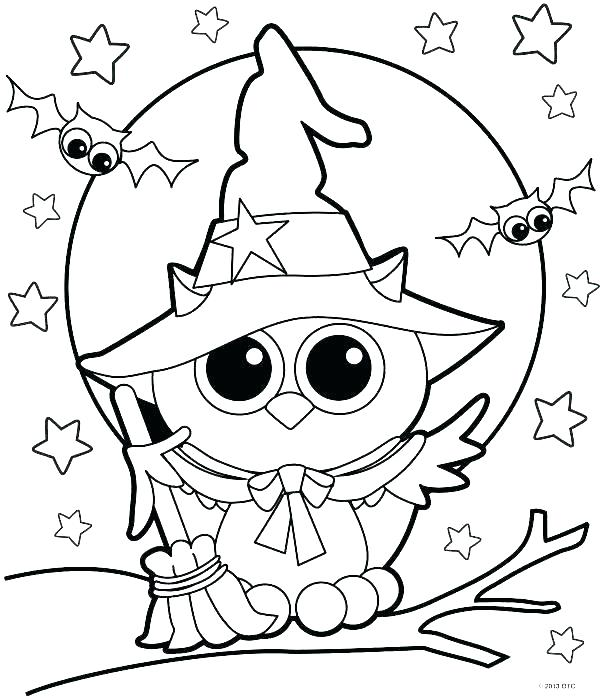 600x699 Coloring Pages Of Halloween Coloring Pages Owl Witch Coloring Page