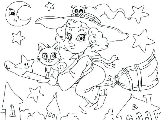 533x400 Exciting Preschool Halloween Coloring Pages Fun Coloring Pages
