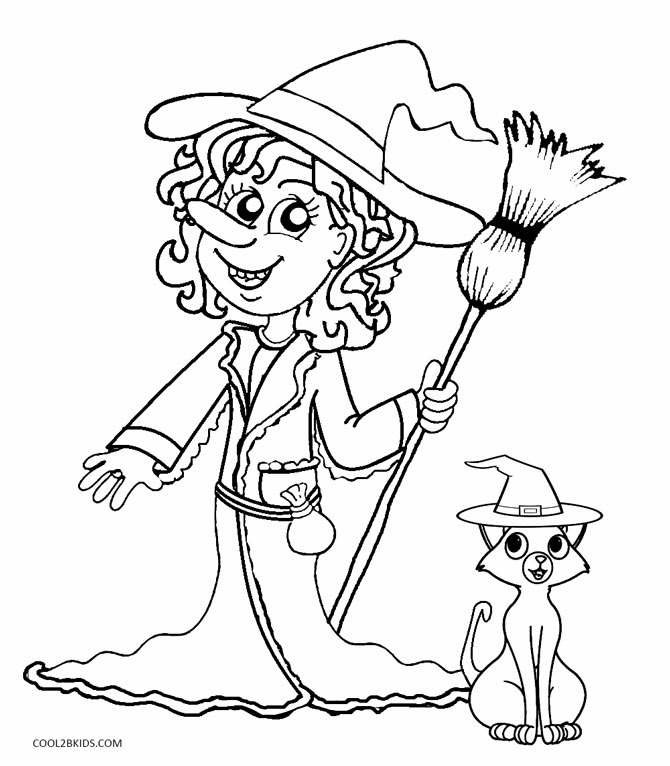 670x766 Printable Witch Coloring Pages For Kids