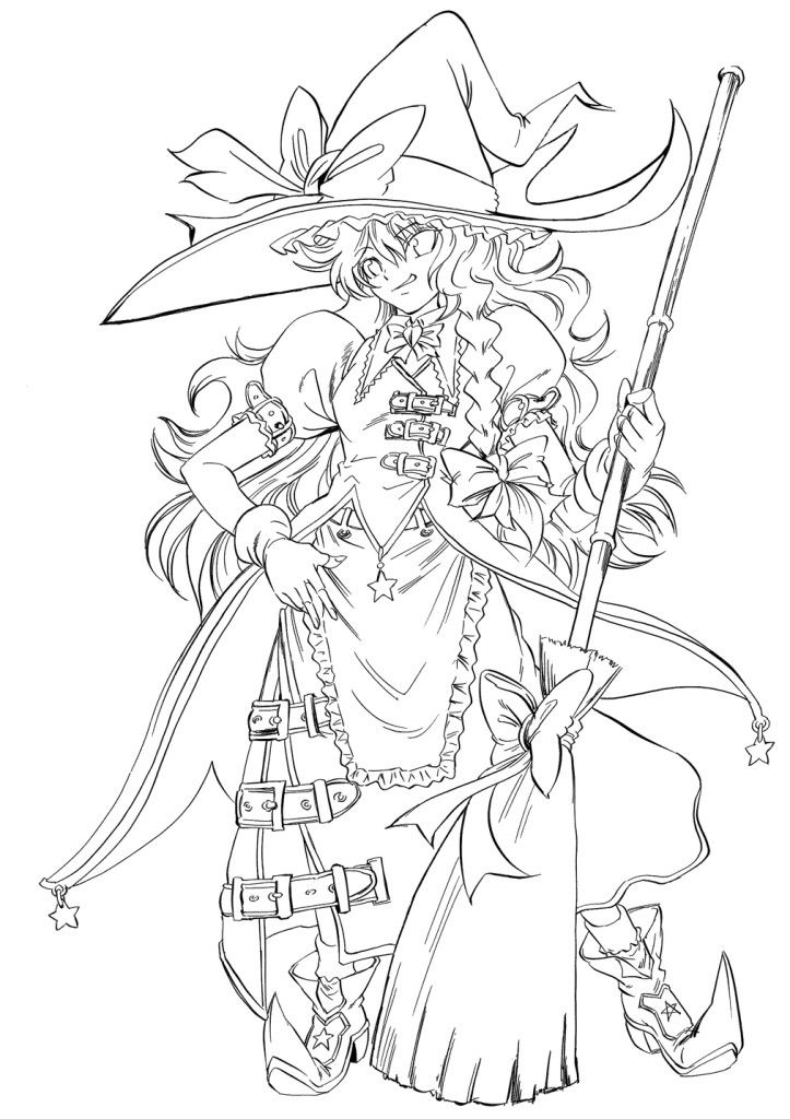 723x1024 Search Results Anime Printable Coloring Pages Witch