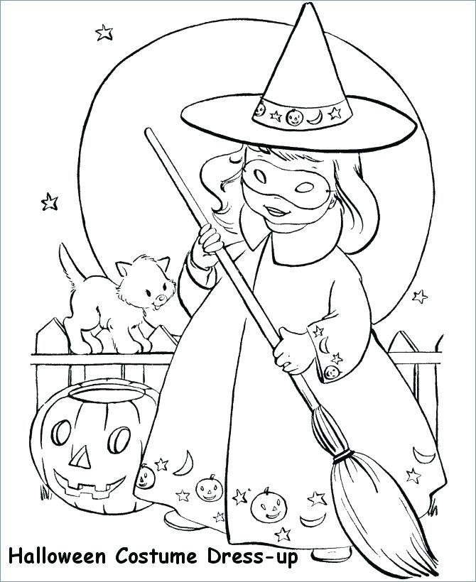 670x820 Coloring Pages For Graders Little Girl Witch Witch Coloring
