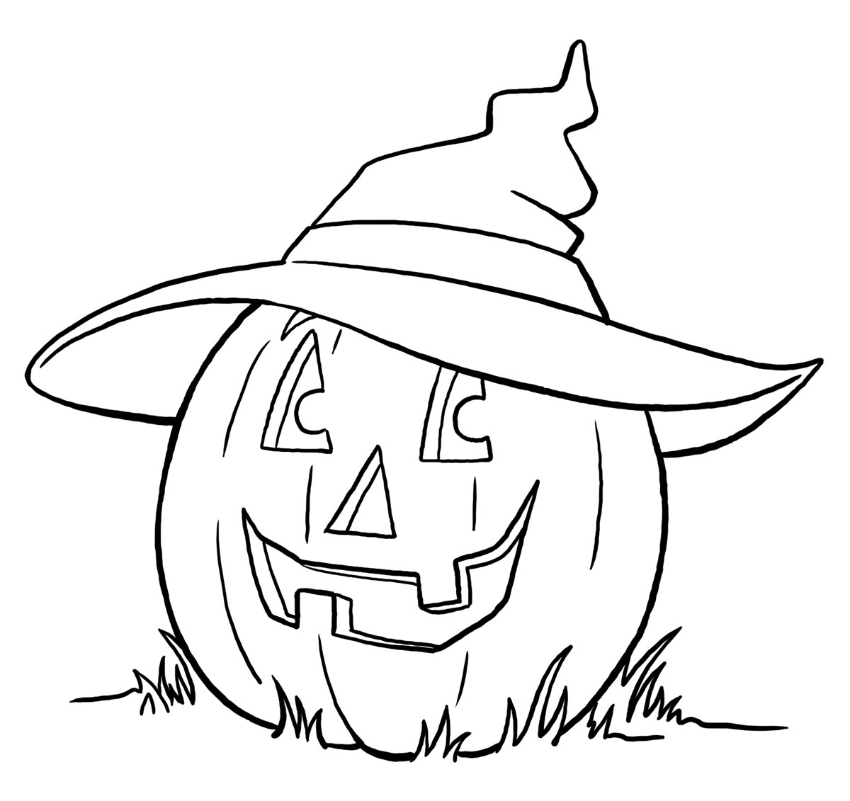 1200x1131 Witch Coloring Page