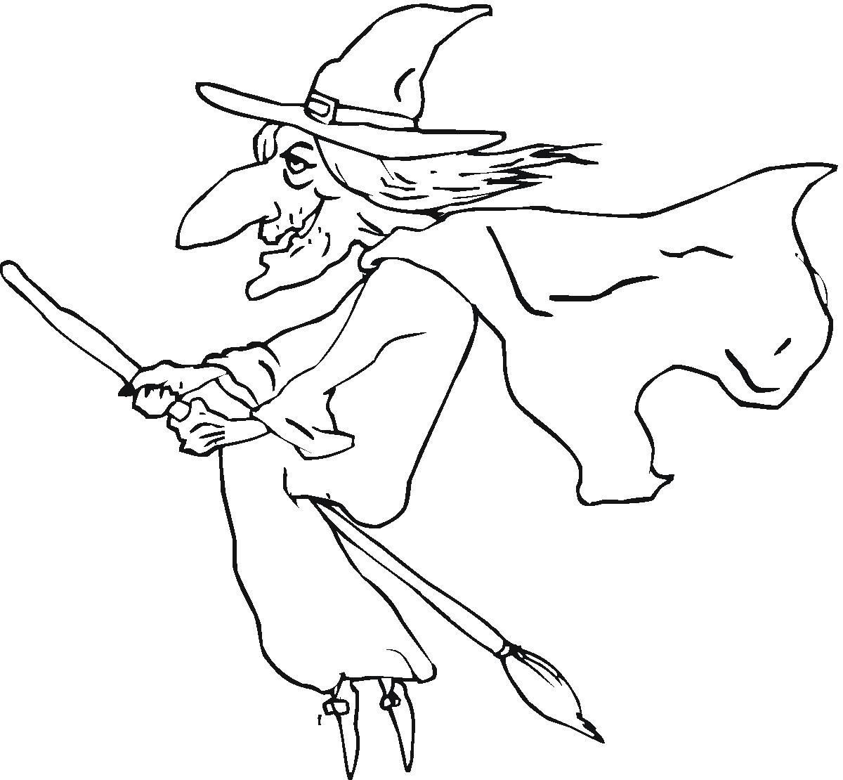 1200x1110 Witch Coloring Pages Printable For Kids Ripping Page Acpra