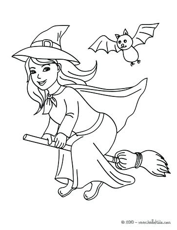 363x470 Witch Coloring Page