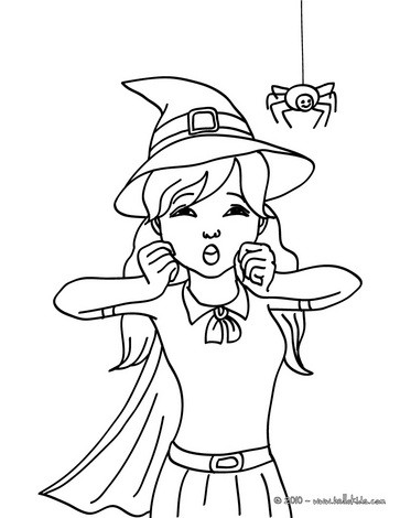 363x470 Exquisite Witch Coloring Page Printable Photos Of Beatiful Witch