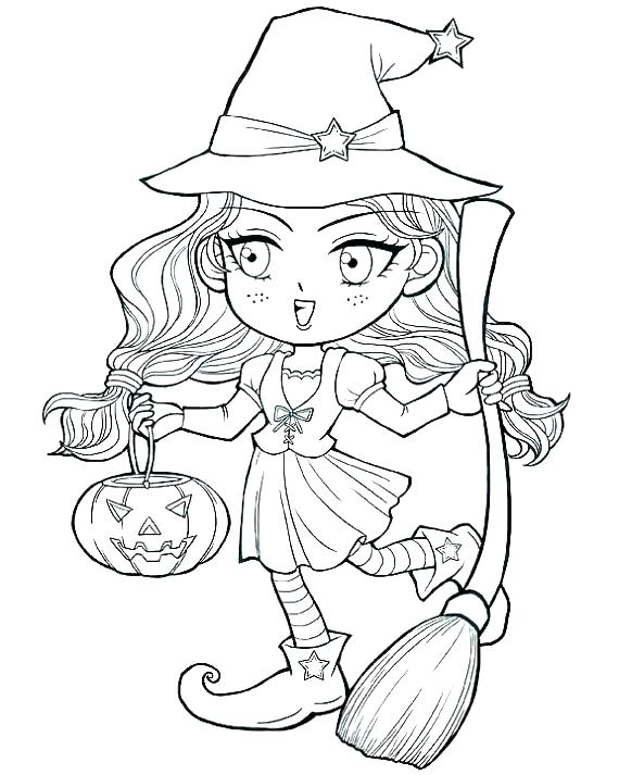 570x713 Witch Coloring Pages Witch Face Coloring Pages Witch Hat Coloring