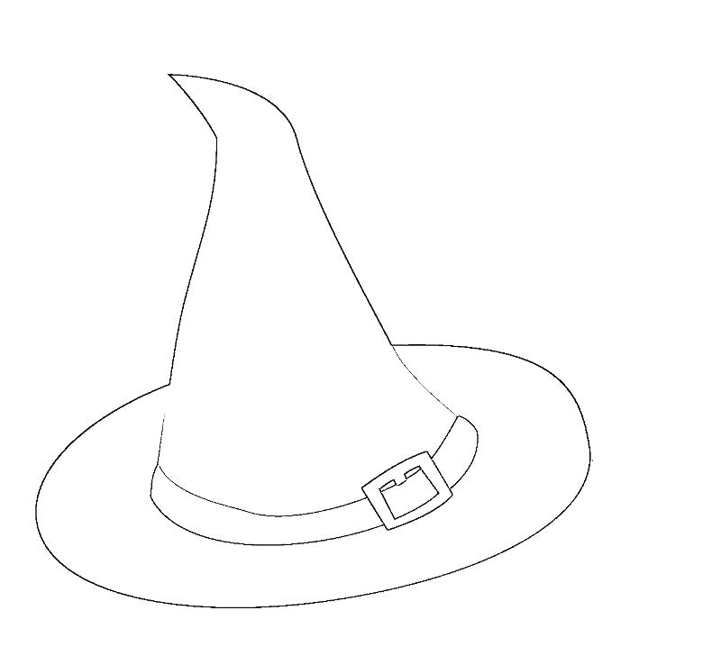 800x728 Witch Hat Coloring Page Adult Witch Hat Coloring Pages Witch Hat