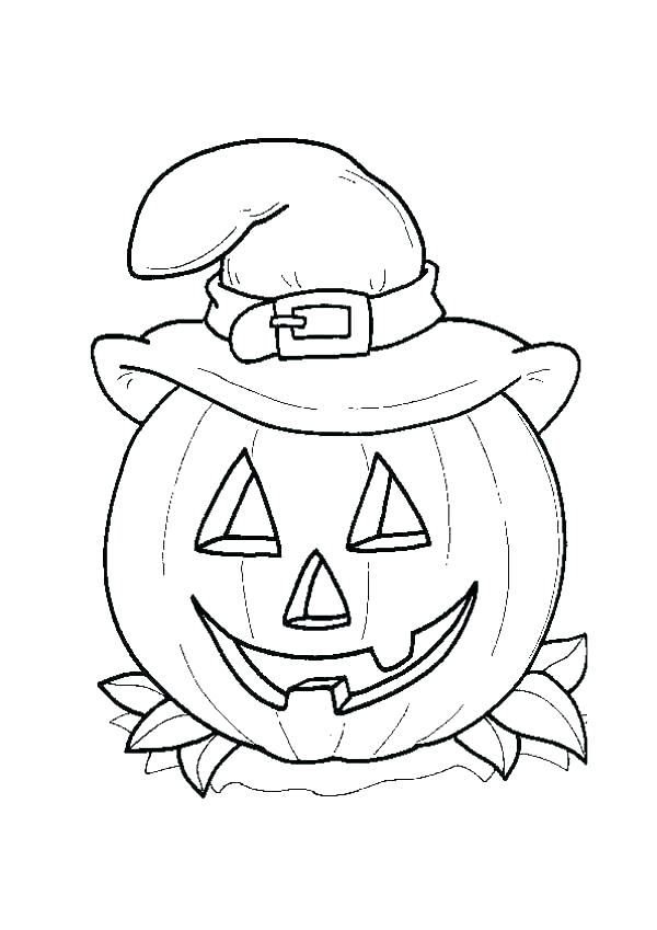 600x849 Witch Hat Coloring Page Winter Hat Coloring Page Scarecrow Hat