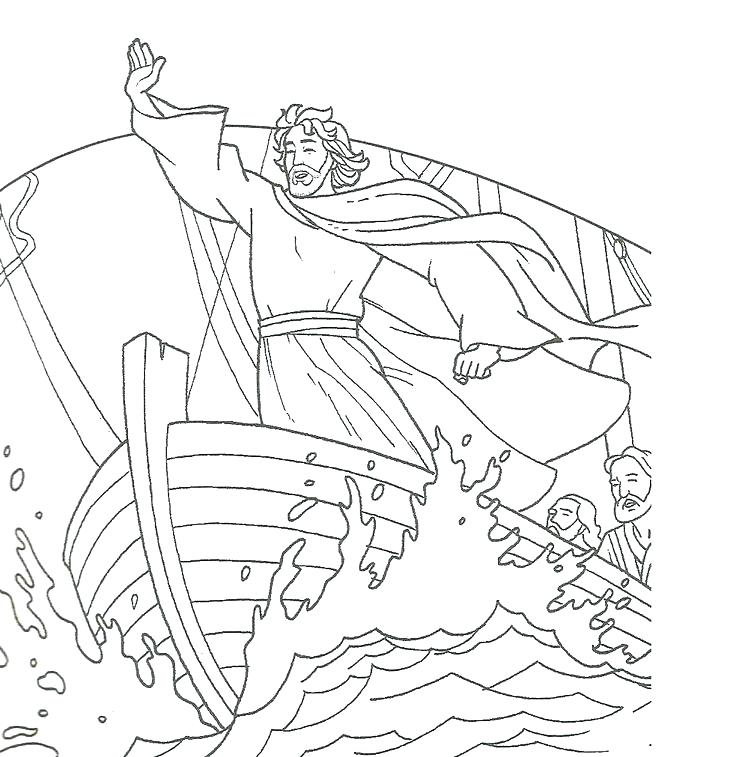 736x757 Storm Coloring Pages Calms The Storm Coloring Page Calms The Storm