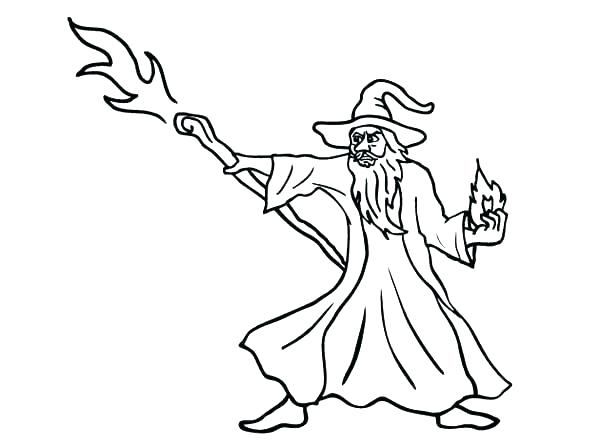 600x448 Wizard Coloring Pages Magician Wizard Coloring Pages Evil Wizard
