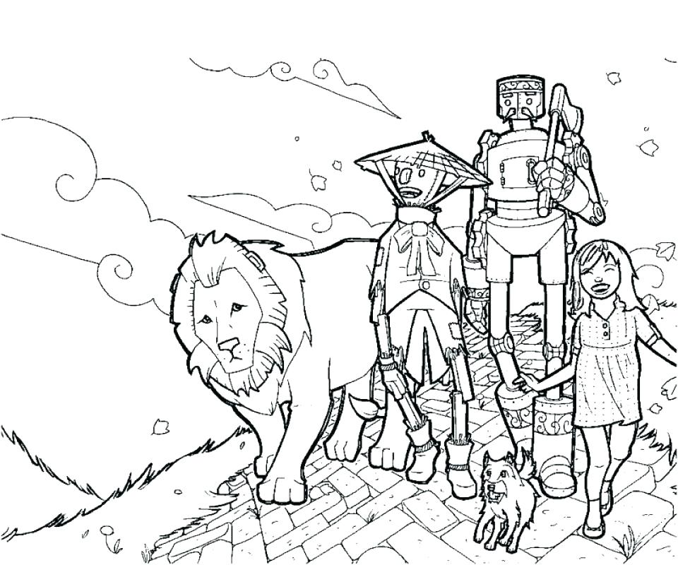960x800 Wizard Of Oz Coloring Pages Dorothy Coloring Pages Wizard Of Oz