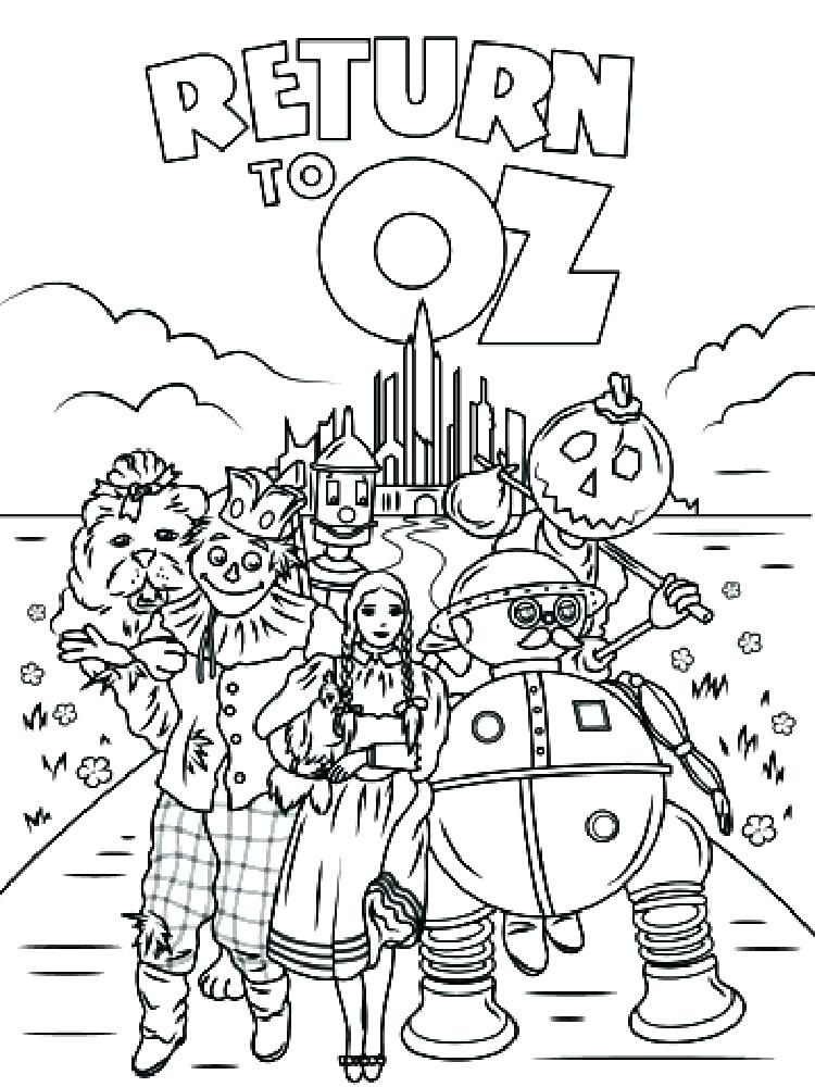 750x1000 Wizard Of Oz Coloring Pages Wizard Coloring Pages The Wizard Of Oz