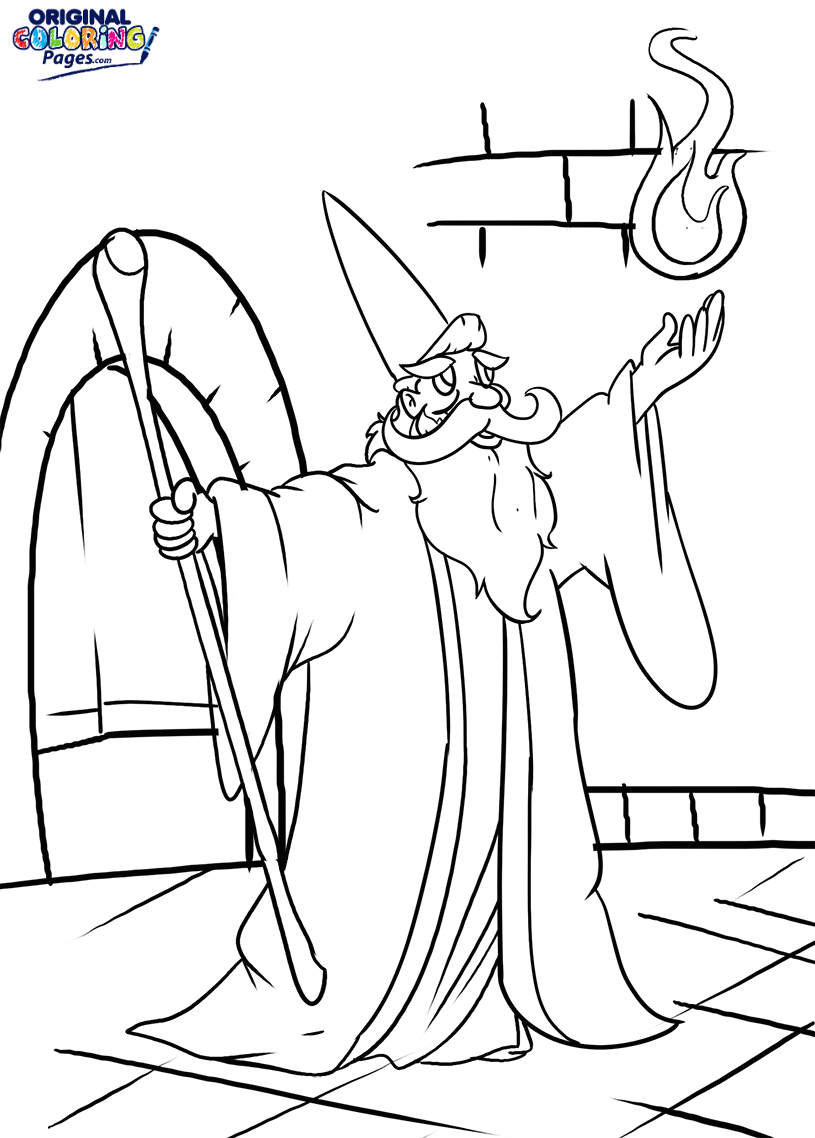 815x1138 Wizard Spell Coloring Page Coloring Pages Original Coloring Pages