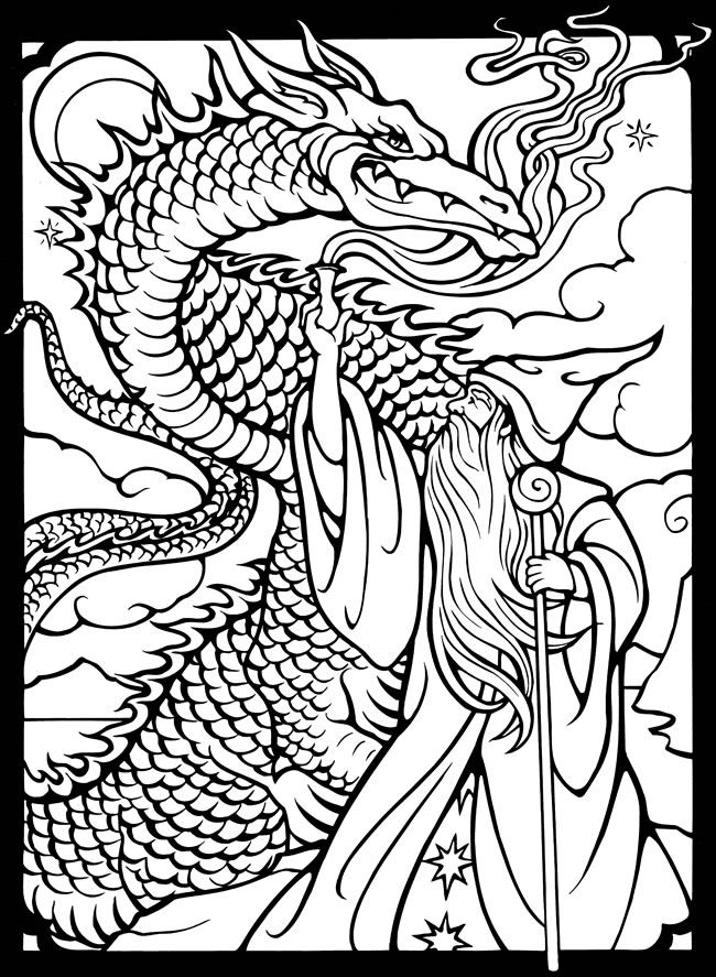 650x887 Dover Publications Free Sample Coloring Page