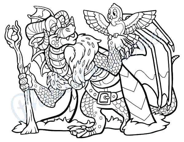 600x463 Dragon Coloring Pages Easy Wizard Coloring Page Wizard Dragon
