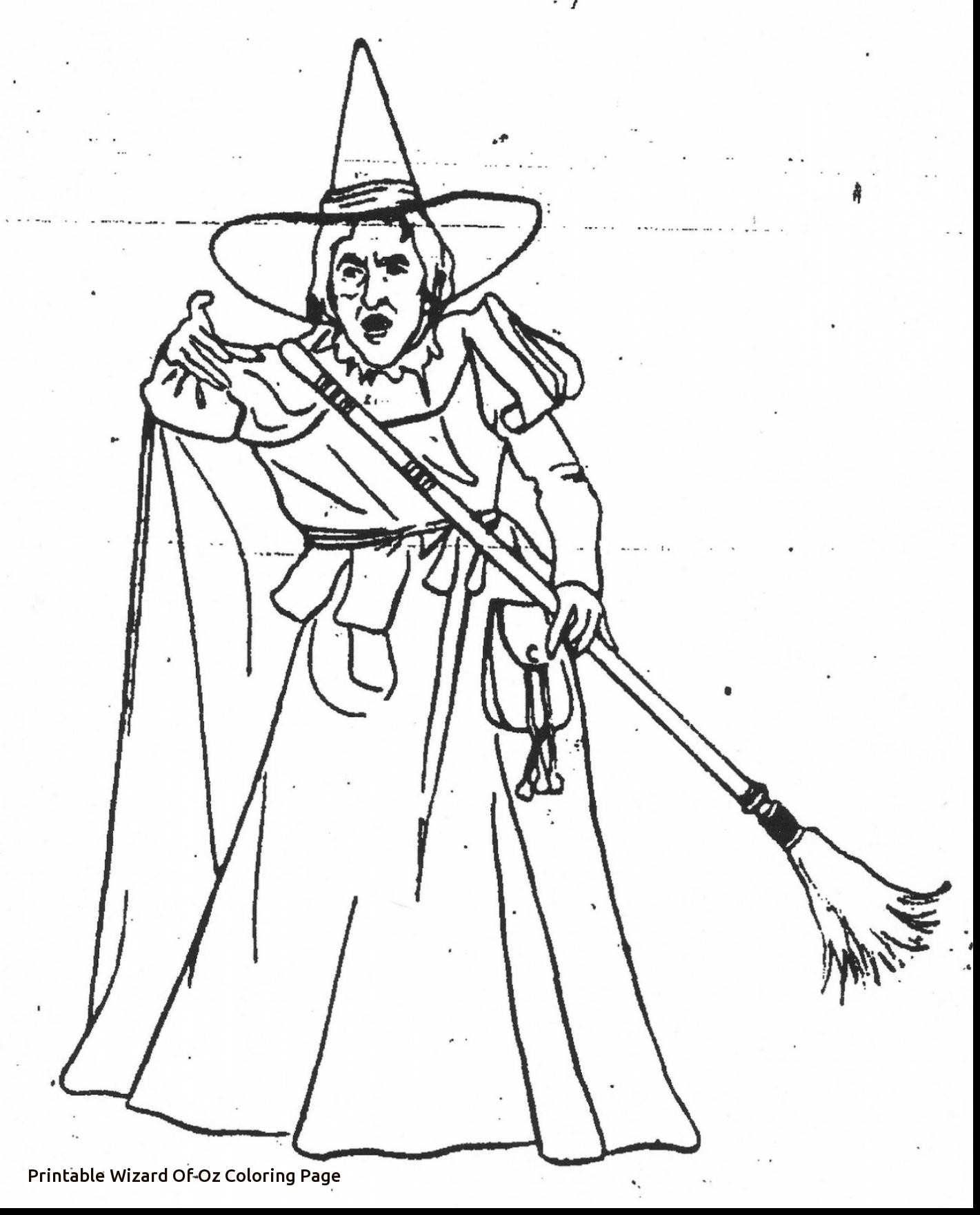 Wizard Showing Magic Wand Effect Coloring Page | 1760x1421