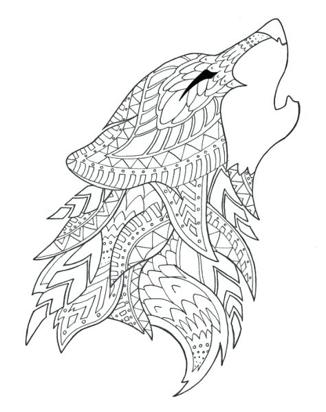 474x600 Wolf Color Page Adult Coloring Pages Wolf Big Bad Wolf Coloring